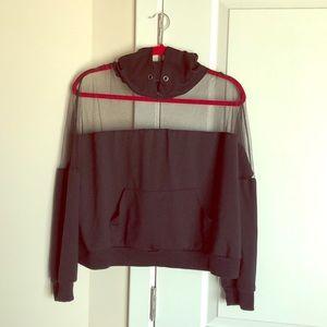Black hoodie with mesh